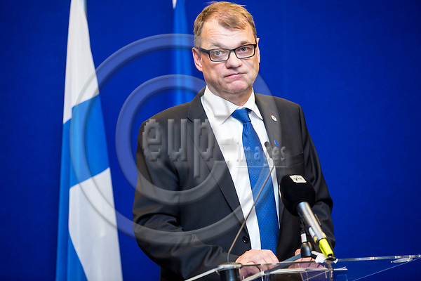 BRUSSELS - BELGIUM - 22 June 2017 -- Juha SIPILÄ, Prime Minister of Finland during his press conference. -- PHOTO: Juha ROININEN / EUP-IMAGES
