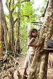 PHILIPPINES, Palawan, Barangay region, portrait of a young Batak boy in Kalakwasan Village