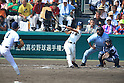 (L-R) Shigetaro Imai (Mie), Koki Fukuda (Osaka Toin), Kengo Nakabayashi (Mie),<br /> AUGUST 25, 2014 - Baseball :<br /> 96th National High School Baseball Championship Tournament final game between Mie 3-4 Osaka Toin at Koshien Stadium in Hyogo, Japan. (Photo by Katsuro Okazawa/AFLO)6() 7 1