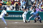 (L-R) Shigetaro Imai (Mie), Koki Fukuda (Osaka Toin), Kengo Nakabayashi (Mie),<br /> AUGUST 25, 2014 - Baseball :<br /> 96th National High School Baseball Championship Tournament final game between Mie 3-4 Osaka Toin at Koshien Stadium in Hyogo, Japan. (Photo by Katsuro Okazawa/AFLO)6() 7 1