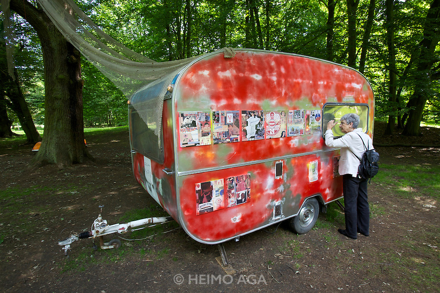 "dOCUMENTA (13) in Kassel, Germany..Karlsaue..Shinro Ohtake. ""MON CHERI: A Self-Portrait as a Scrapped Shed"", 2012."