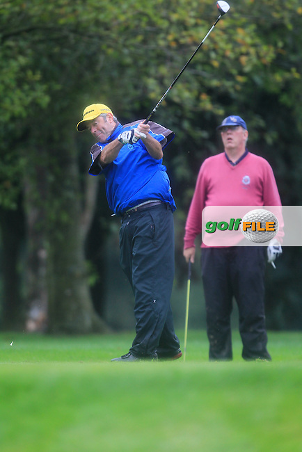 Tony Barret (Corrstown) on the 13th tee during Practice day for the AIG Cups &amp; Shields Finals in Royal Tara Golf Club on Tuesday 17th September 2013.<br /> Picture:  Thos Caffrey / www.golffile.ie