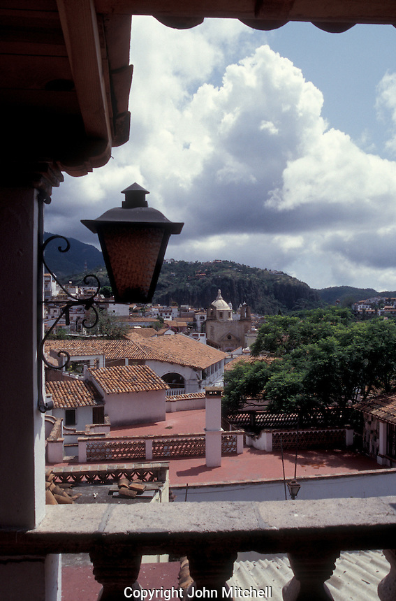 The red roofs of the Spanish colonial town of Taxco, Guerrero, Mexico