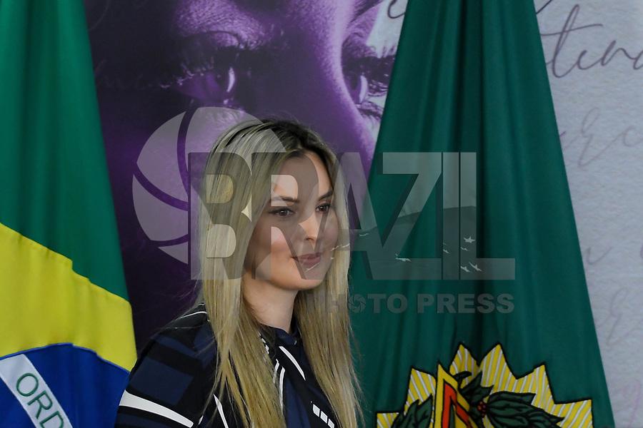 BRASÍLIA, DF, 27.11.2018 – AGENDA-TEMER – A primeira-dama Marcela Temer durante Cerimônia de Enfrentamento à Violência Contra a Mulher na tarde desta terça-feira, 27, no Palácio do Planalto.  (Foto: Ricardo Botelho/Brazil Photo Press/Folhapress)