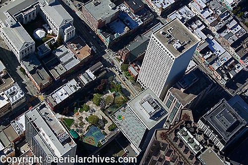 aerial photograph Hartford Building, 650 California Street, San Francisco financial district