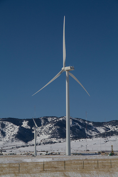 Wind farm in winter, Boulder, Colorado, .  John leads private photo tours in Boulder and throughout Colorado. Year-round Boulder photo tours. .  John leads private photo tours in Boulder and throughout Colorado. Year-round Colorado photo tours.