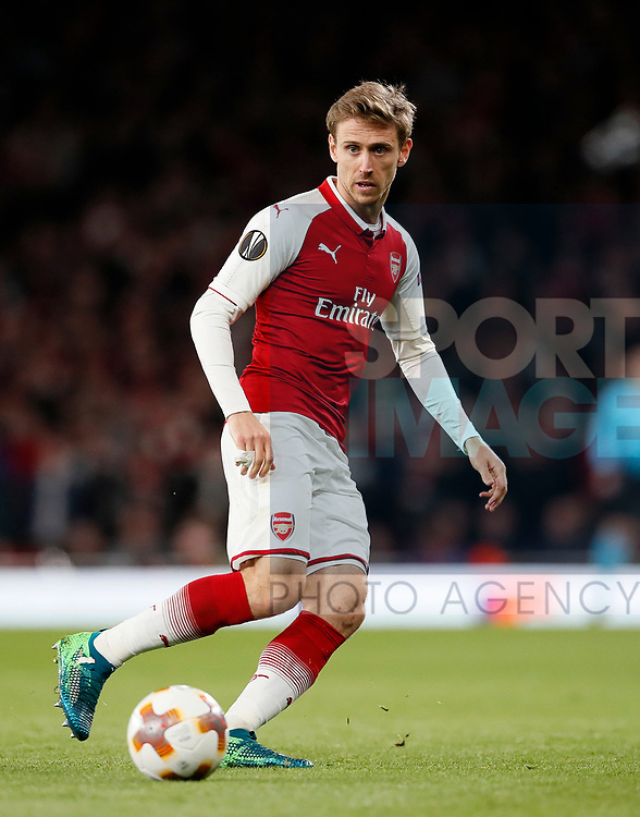 Arsenal's Nacho Monreal in action during the Europa League Semi Final 1st Leg, match at the Emirates Stadium, London. Picture date: 26th April 2018. Picture credit should read: David Klein/Sportimage