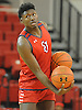 Darien Williams #45 of St. John's University men's basketball practices after Media Day at Lou Carnesecca Arena in Jamaica, NY on Thursday, Oct. 27, 2016.