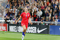 Saint Paul, MN - Tuesday September 03, 2019 : Lindsey Horan #9 celebrates a goal during a 2019 Victory Tour match between Portugal and the United States at Allianz Field, on September 03, 2019 in Saint Paul, Minnesota.