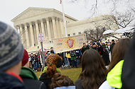 January 23, 2012  (Washington, DC)  A group of people form a circle of prayer in front of the U.S. Supreme Court during the March For Life   (Photo by Don Baxter/Media Images International)