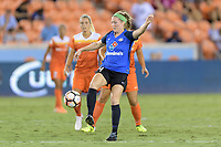 Houston, TX - Sunday August 13, 2017:  Maegan Kelly during a regular season National Women's Soccer League (NWSL) match between the Houston Dash and FC Kansas City at BBVA Compass Stadium.