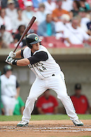 August 5, 2009: Mike Spina of the Kane County Cougars. The Cougars are the Midwest League affiliate for the Oakland Athletics. Photo by: Chris Proctor/Four Seam Images