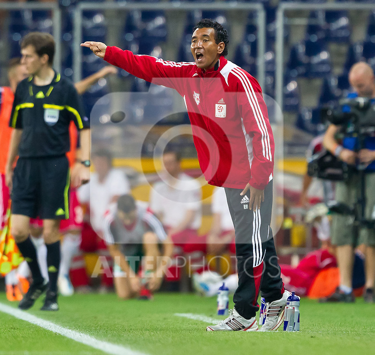 25.08.2011, Red Bull Arena, Salzburg, AUT, UEFA EL, Red Bull Salzburg vs Omonia Nikosia, im Bild Ricardo Moniz (Red Bull Salzburg, Trainer) // during the UEFA Europaleague 2nd Leg Match, Red Bull Salzburg against Omonia Nikosia, Red Bull Arena, Salzburg, 2011-08-25, EXPA Pictures © 2011, PhotoCredit: EXPA/ J. Feichter