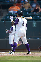 Yermin Mercedes (6) of the Winston-Salem Dash at bat against the Buies Creek Astros at BB&T Ballpark on July 15, 2018 in Winston-Salem, North Carolina. The Dash defeated the Astros 6-4. (Brian Westerholt/Four Seam Images)