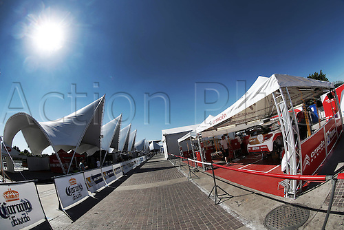 06.03.2014. GUANAJUATO, Mexico. The World Rally Championships (WRC) of Mexico.  Cars are prepared in the pits