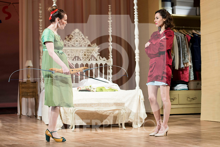 "Marta Molina and Begoña Maestre during theater play of ""Una gata sobre un tejado de Cinc caliente"" at Reina Victoria theater in Madrid, Spain. March 15, 2017. (ALTERPHOTOS/BorjaB.Hojas)"