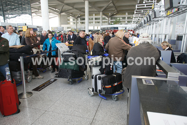 **ALL ROUND PICTURES FROM SOLARPIX.COM**                                             **WORLDWIDE SYNDICATION RIGHTS**.Caption: Holiday makers stranded today at Malaga airport due to the Spanish air traffic controllers strike which has paralysed the whole of Spain today.                                                                           ...                                                                                            ..JOB REF: 12559       MPA       DATE: 4.12.2010                                                           **MUST CREDIT SOLARPIX.COM OR DOUBLE FEE WILL BE CHARGED**                                                                      **MUST AGREE FEE BEFORE ONLINE USAGE**                               **CALL US ON: +34 952 811 768 or LOW RATE FROM UK 0844 617 7637**