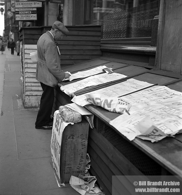 Wartime Newspaper Vendor