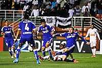 ATENÇÃO EDITOR: FOTO EMBARGADA PARA VEÍCULOS INTERNACIONAIS SÃO PAULO,SP,26 SETEMBRO 2012 - FINAL RECOPA SUDAMERICANA - SANTOS (bra) x UNIVERSIDAD DE CHILE (chi) - Arouca jogador do Santos durante partida Santos x Universidad de Chile  válido pela final da Recopa Sudameircana no Estádio Paulo Machado de Carvalho (Pacaembu), na região oeste da capital paulista na noite desta quarta feira (26).(FOTO: ALE VIANNA -BRAZIL PHOTO PRESS).