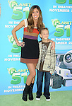 WESTWOOD, CA. - November 14: Kayla Ewell and her nephew Blake arrive to the Los Angeles premiere of 'Planet 51' at the Mann Village Theatre on November 14, 2009 in Westwood, California.