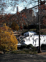 Ice skating in Central park. Images of New York 2004, New York,U.S.A