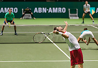 Rotterdam, The Netherlands, 14 Februari 2019, ABNAMRO World Tennis Tournament, Ahoy, Semis, Doubles,<br /> Jeremy Chardy (FRA) Henri Kontinen (FIN) vs Marcel Granollers (ESP) Nikola Mektic (CRO),<br /> Photo: www.tennisimages.com/Henk Koster