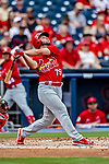 26 February 2019: St. Louis Cardinals infielder Max Schrock at bat during a Spring Training game against the Washington Nationals at the Ballpark of the Palm Beaches in West Palm Beach, Florida. The Cardinals defeated the Nationals 6-1 in Grapefruit League play. Mandatory Credit: Ed Wolfstein Photo *** RAW (NEF) Image File Available ***
