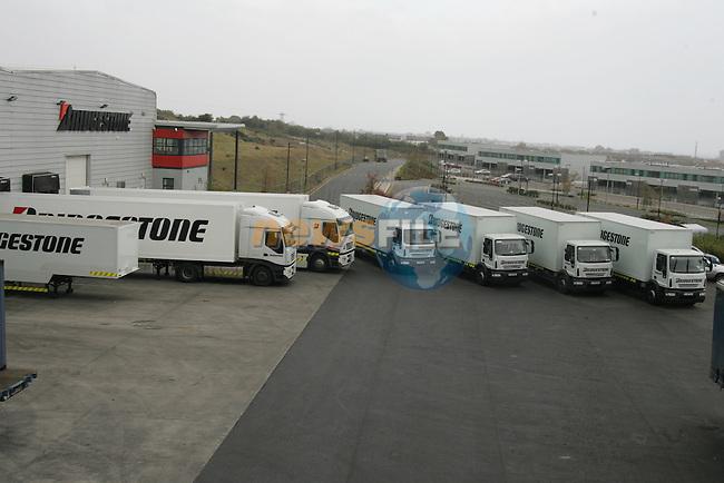 Bridgestone Trucks at the Bridgestone Ireland distrubation depot in Balbriggan Co Dublin.. Photo: Newsfile/Fran Caffrey.