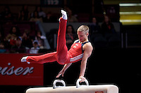 3/1/08 - Photo by John Cheng -  Alexander Artemev performs on the pommel horse at the Tyson American Cup in Madison Square GardenPhoto by John Cheng - Tyson American Cup 2008 in Madison Square Garden, New York.Artemev