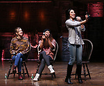 Eliza Ohman, Sasha Hollinger and Lauren Boyd during their #EduHam Q & Aon January 31, 2018 at the Richard Rodgers Theatre in New York City.