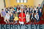 On Tuesday in the Church of the Purification, Churchill, the pupils of Spa NS who were confirmed by the Bishop of Kerry Ray Browne with Fr. Mulvihill, Class Teacher Mary Crowe and Peter Lenihan, (principal)
