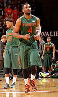 Miami forward Raphael Akpejiori (4) during an NCAA basketball game Saturday Feb, 24, 2014 in Charlottesville, VA. Virginia defeated Miami 65-40.
