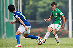 Chun Lok Tan of Wofoo Tai Po (R) in action during the week three Premier League match between BC Rangers and Wofoo Tai Po at Sham Shui Po Sports Ground on September 17, 2017 in Hong Kong, China. Photo by Marcio Rodrigo Machado / Power Sport Images