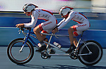 Pierre-Olivier Boily (left) of Sherbrooke, Que. and Stephane Cote of Quebec City in the road cycling time trials at the Paralympic Games in Beijing, Friday, Sept., 12, 2008. Pierre-Olivier Boily (left) of Sherbrooke, Que. and Stephane Cote of Quebec City in the road cycling time trials at the Paralympic Games in Beijing, Friday, Sept., 12, 2008. Photo by Mike Ridewood/CPC