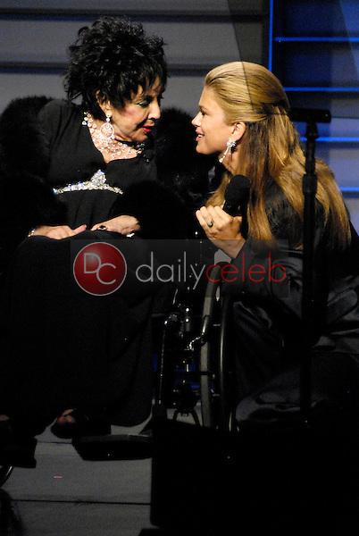 Elizabeth Taylor and Kathy Ireland<br />at the Macy's Passport 2008 Gala. Barker Hanger, Santa Monica, CA. 09-25-08<br />Dave Edwards/DailyCeleb.com 818-249-4998