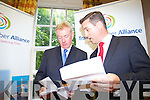 Pictured at the opening of the Tralee Chamber Alliance offices on Monday, are Kieran Ruttledge and Padraig McGillycuddy.