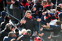 Facundo Isa and the rest of the Toulon team arrive at the Stade Mayol. European Rugby Champions Cup match, between RC Toulon and Bath Rugby on December 9, 2017 at the Stade Mayol in Toulon, France. Photo by: Patrick Khachfe / Onside Images