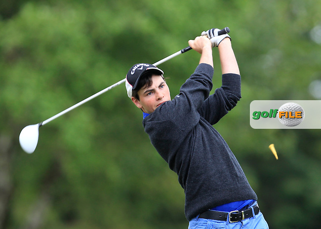 Eamonn O'Driscoll (Killarney) on the 9th tee during Round 3 of the Irish Boys Amateur Open Championship at Tuam Golf Club on Thursday 25th June 2015.<br /> Picture:  Thos Caffrey / www.golffile.ie