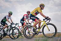 yellow jersey / GC leader Greg Van Avermaet (BEL/BMC)<br /> <br /> Stage 4: La Baule &gt; Sarzeau (192km)<br /> <br /> 105th Tour de France 2018<br /> &copy;kramon