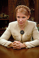 UKRAINE, KIEV, 10.2007, Politician Ioulia Timoshenko..The muse of the Orange Revolution Tymoshenko is poised to become prime minister after the general election on Sunday, where the pro-Western forces came in head according to preliminary polls..L'égérie de la Révolution orange Ioulia Timochenko est bien placée pour redevenir Premier ministre après les législatives de dimanche, où les forces pro-occidentales sont arrivées en tête selon les premiers sondages. © Cyril Horiszny / Est&Ost Photography