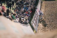 race leader &gt; European Champion Mathieu van der Poel (NED/Corendon-Circus) plowing through the sand (1 minute ahead of the competition)<br /> <br /> Superprestige Ruddervoorde 2018 (BEL)