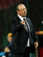 Rafael Benitez  during Europa League Semi Final first    leg soccer match, between SSC Napoli and  Dinipro   at  the San Paolo   stadium in Naples  Italy , May 07, 2015