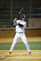 Stuart Fairchild (4) of the Wake Forest Demon Deacons at bat against the Georgetown Hoyas at David F. Couch Ballpark on February 19, 2016 in Winston-Salem, North Carolina.  The Demon Deacons defeated the Hoyas 3-1.  (Brian Westerholt/Four Seam Images)