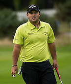 15.10.2014. The London Golf Club, Ash, England. The Volvo World Match Play Golf Championship.  Day 1 group stage matches.  Patrick Reed [USA]