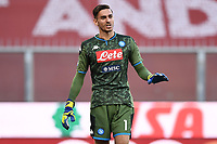 Alex Meret of SSC Napoli during the Serie A football match between Genoa CFC and SSC Napoli stadio Marassi in Genova ( Italy ), July 08th, 2020. Play resumes behind closed doors following the outbreak of the coronavirus disease. <br /> Photo Matteo Gribaudi / Image / Insidefoto