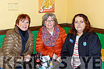 Maureen Guerin, Bernadette Daly and Geraldine Stack enjoying the Ballyfinnane table quiz in the Shanty bar on Sunday
