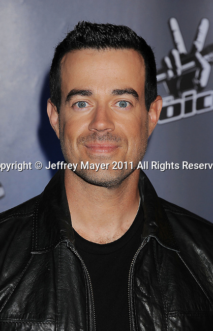 """LOS ANGELES, CA - MARCH 15: Carson Daly attends NBC's """"The Voice"""" Press Conference at L.A. Center Studios on March 15, 2011 in Los Angeles, California."""