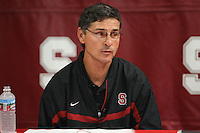10 October 2006: Walt Harris address the media during a weekly news conference at the Arrillaga Family Sports Center in Stanford, CA.