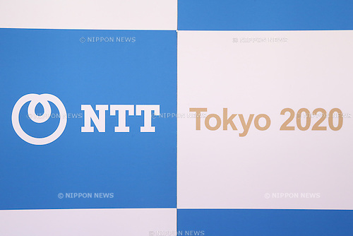 Detail Shot,<br /> JANUARY 26, 2015 : <br /> NTT corporation has Press conference at Hotel Okura Tokyo.<br /> NTT corporation today announced that it has entered into a partnership agreement with the Tokyo Organising Committee of the Olympic and Paralympic Games.<br /> (Photo by Shingo Ito/AFLO SPORT)