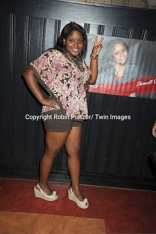 Shenell Edmonds attending the Shenell Edmonds Fan Club Dance Party on ..August 14, 2011 at HB Burger's Sunken Bar in New York City. Shenell plays Destiny Evans on One Life to Live.